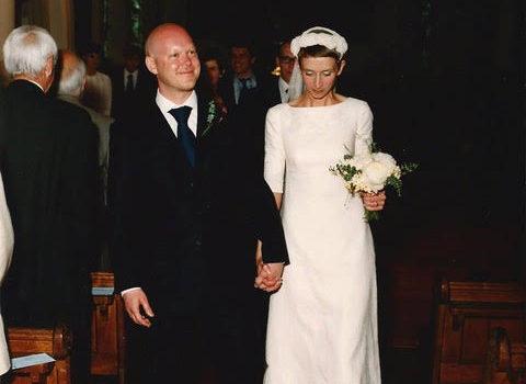 Tara's bespoke wedding dress