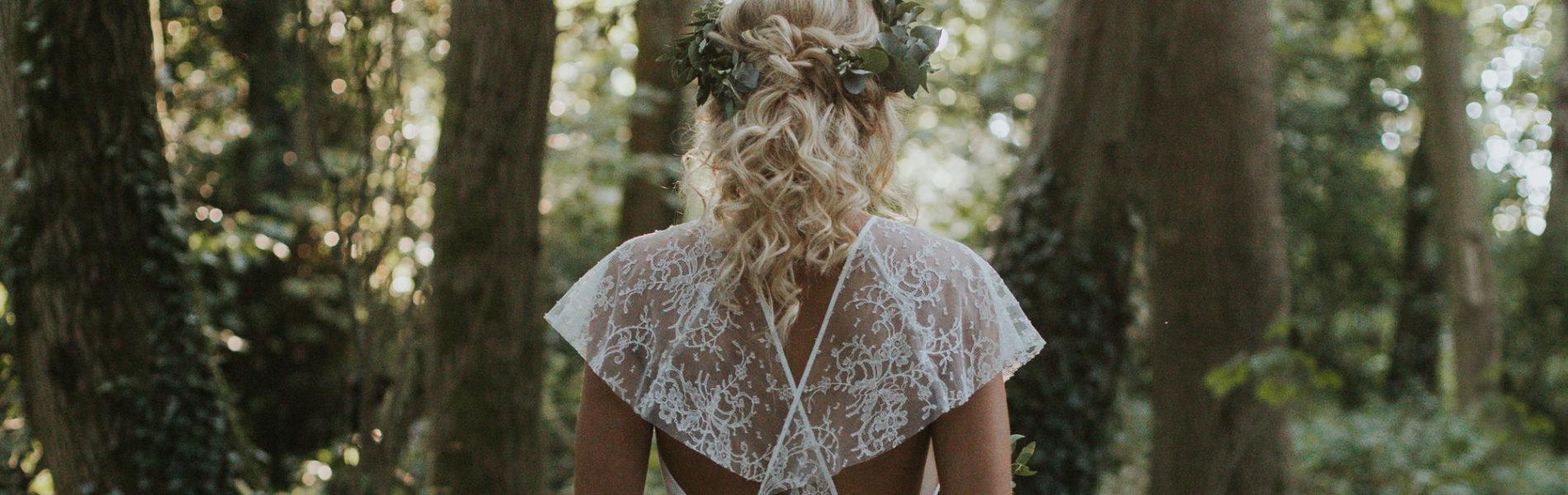 boho bride woodland shoot