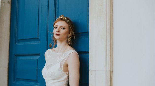 Bea Dress blue door