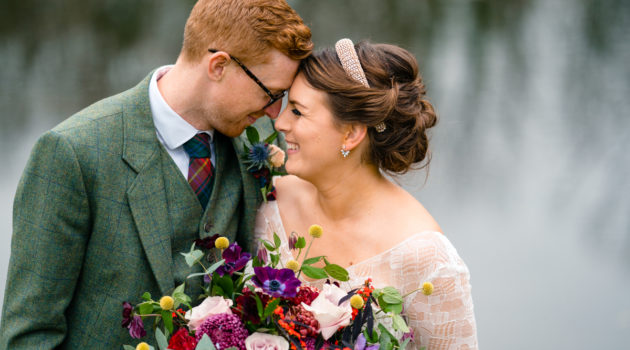 Maddies wedding bespoke Lisa Lyons dress captured by TimStephensonPhotography